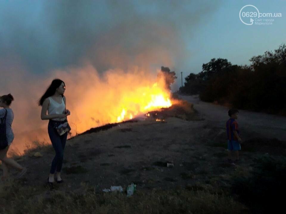 В  Мариуполе подростки ради  баловства решили поджечь траву в поселке Моряков (ФОТО) , фото-1