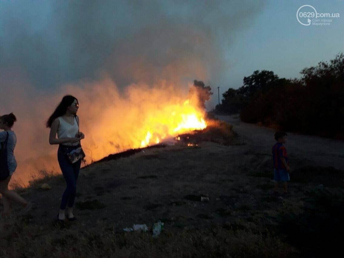 В  Мариуполе подростки ради  баловства решили поджечь траву в поселке Моряков (ФОТО) , фото-6