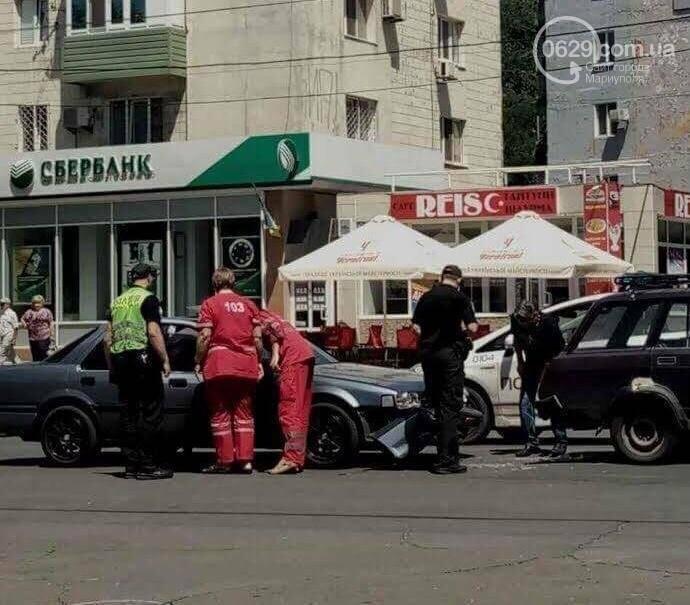 В центре Мариуполя пассажирка  автомобиля Mazda разбила голову (ФОТО), фото-1