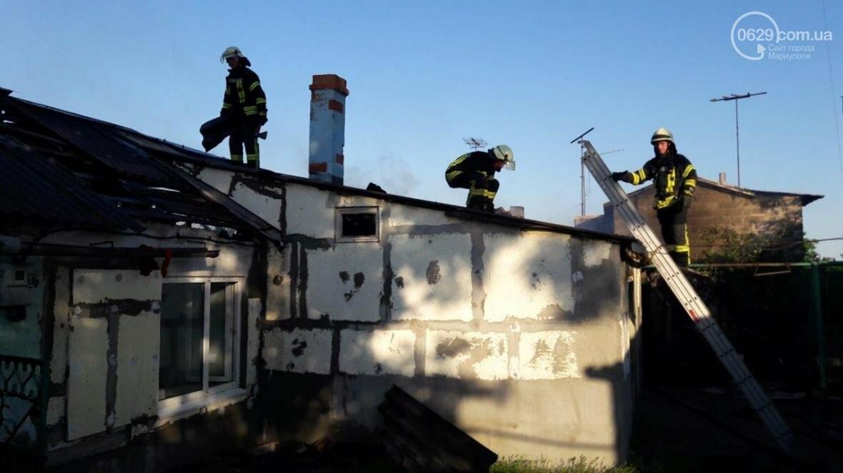 В Мариуполе сгорел жилой дом (ФОТО), фото-2