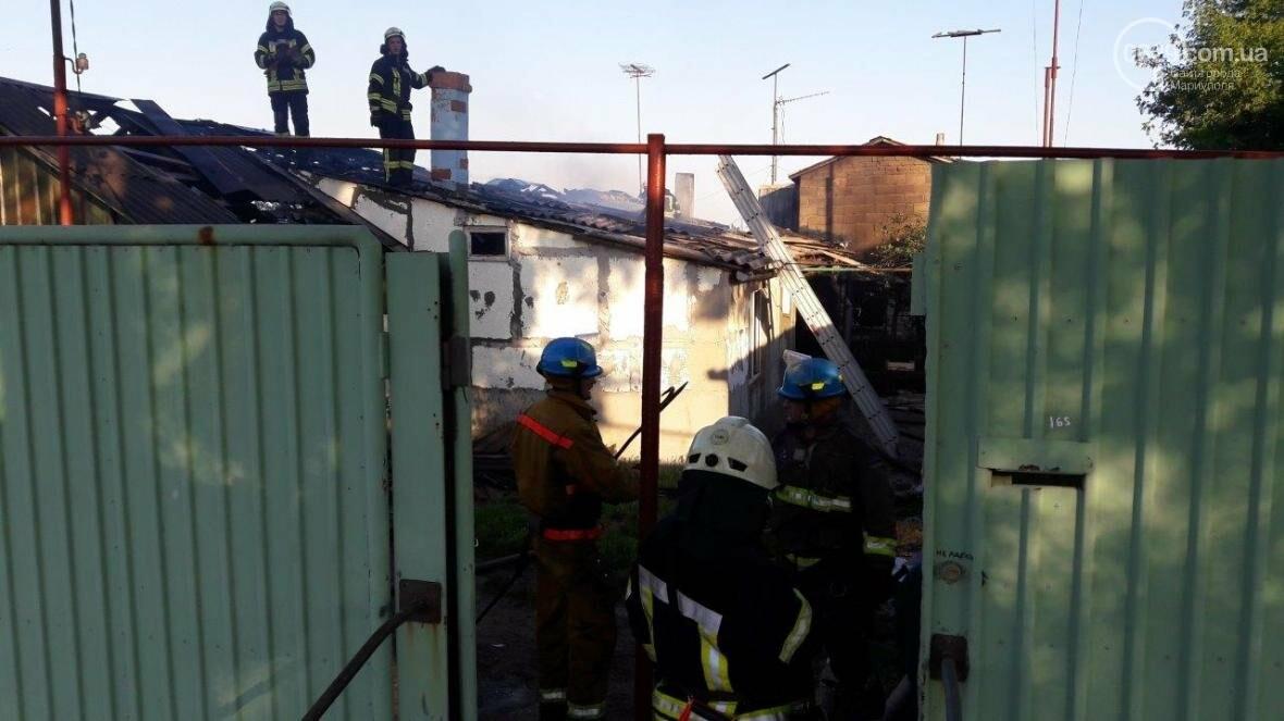 В Мариуполе сгорел жилой дом (ФОТО), фото-4