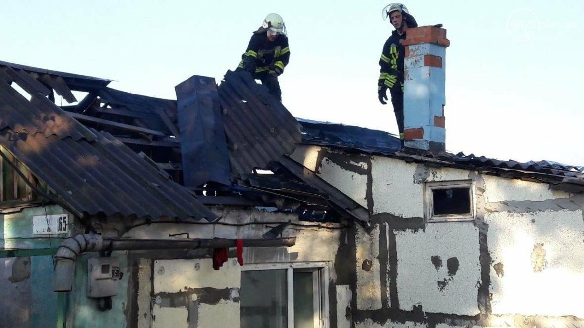 В Мариуполе сгорел жилой дом (ФОТО), фото-5