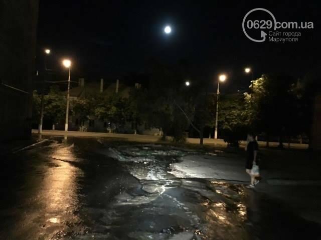 В Мариуполе питьевая вода затопила пр. Лунина (ФОТО+ВИДЕО), фото-1
