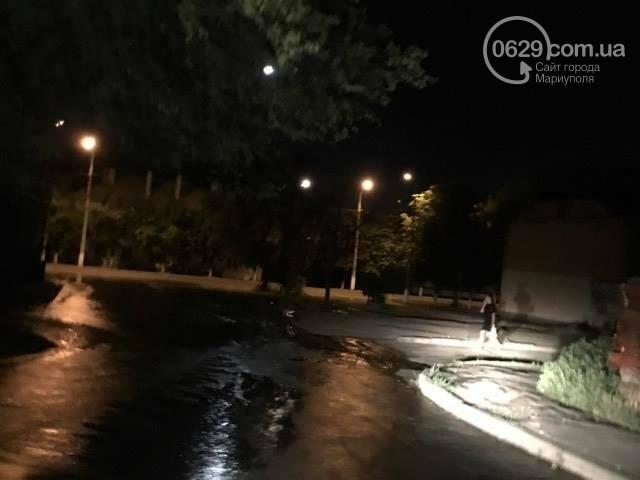 В Мариуполе питьевая вода затопила пр. Лунина (ФОТО+ВИДЕО), фото-2