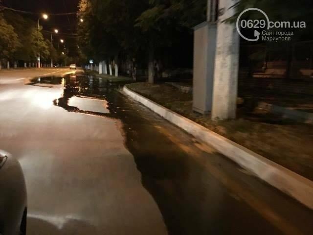 В Мариуполе питьевая вода затопила пр. Лунина (ФОТО+ВИДЕО), фото-3