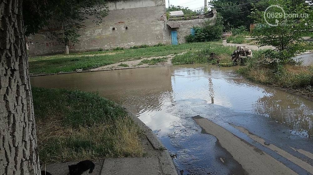 В Мариуполе питьевая вода залила улицу, фото-1
