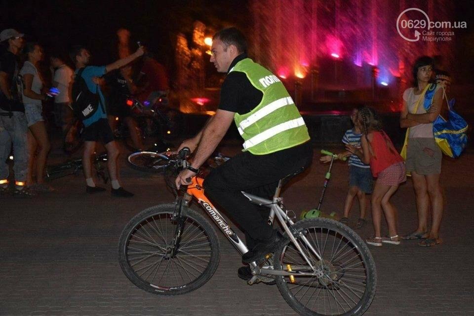 Мариупольские велосипедисты провели ночной заезд, чтобы их заметили(ФОТО), фото-6