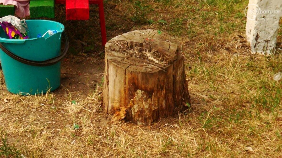 В Мариуполе построили детскую площадку на месте спиленного дерева (ФОТО, ДОПОЛНЕНО), фото-1