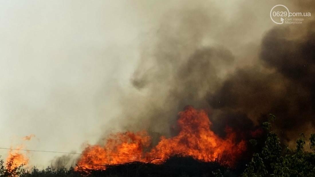 В Мариуполе горит закрытый полигон на Флотской (Дополнено, ФОТО), фото-2