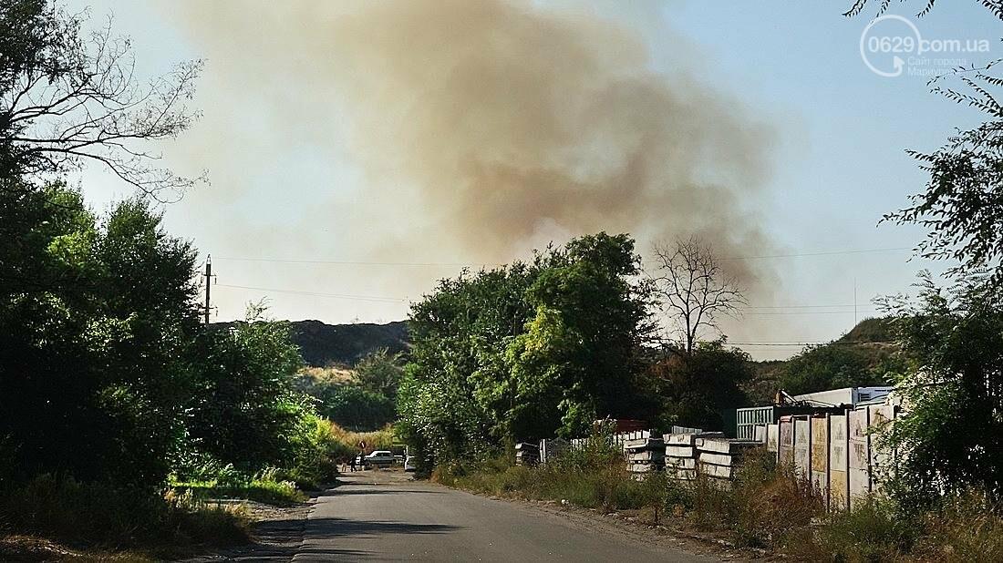 В Мариуполе горит закрытый полигон на Флотской (Дополнено, ФОТО), фото-6