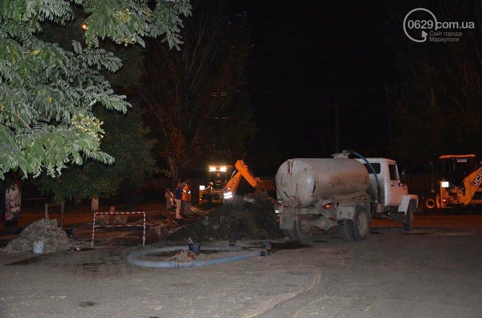 В Мариуполе перекрыто движение на пр. Лунина. Меняют канализационные трубы, фото-1