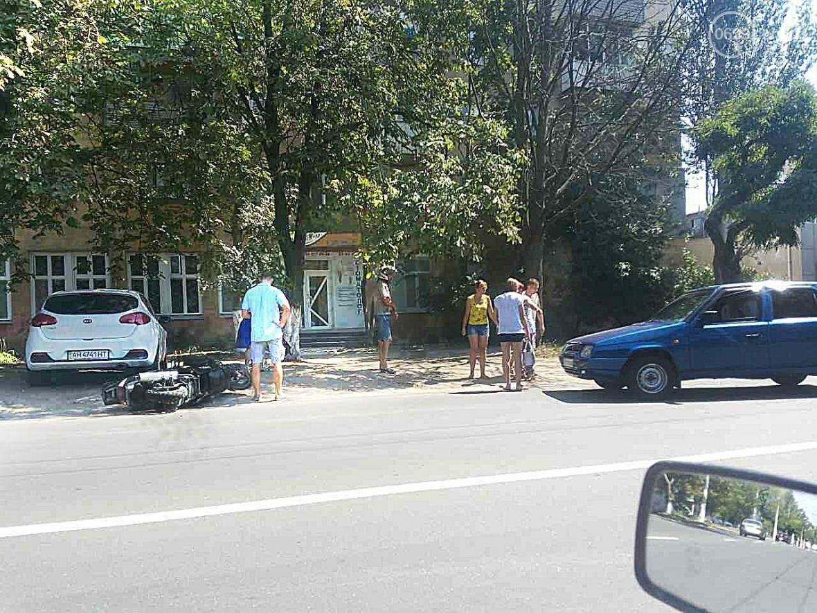 "В Мариуполе ""Шкода"" столкнулась с мопедом. Пострадал мопедист (ФОТО), фото-4"