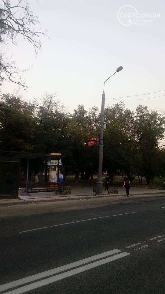 В Мариуполе на остановке появилось электронное табло, фото-2