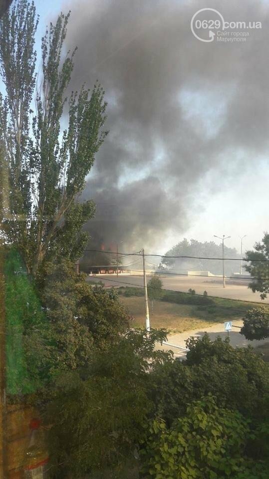 "В Мариуполе  горит кафе ""Чайка"" (ФОТО), фото-3"
