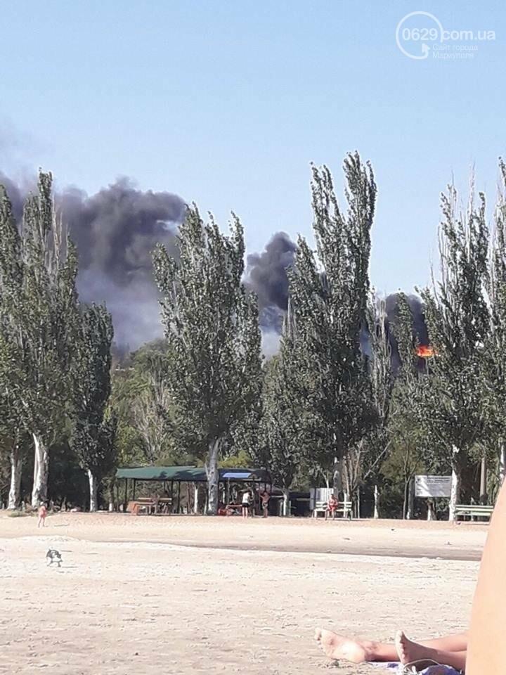 "В Мариуполе  горит кафе ""Чайка"" (ФОТО), фото-2"