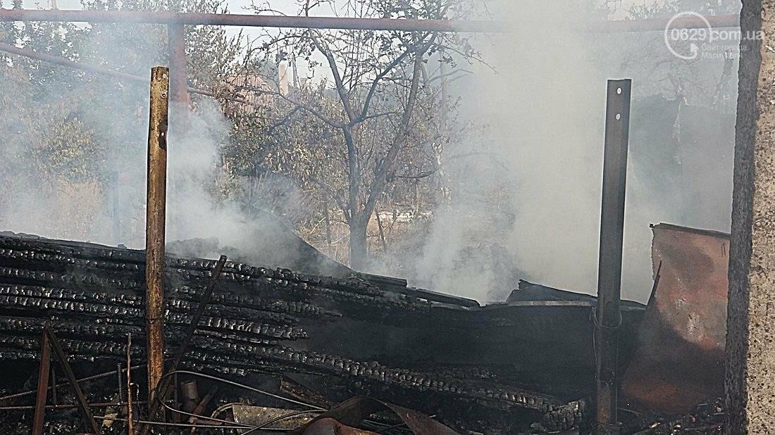 В Кальмиусском районе Мариуполя сгорел дом (ФОТО), фото-7