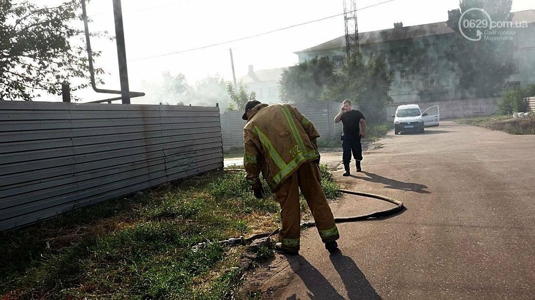 В Кальмиусском районе Мариуполя сгорел дом (ФОТО), фото-9