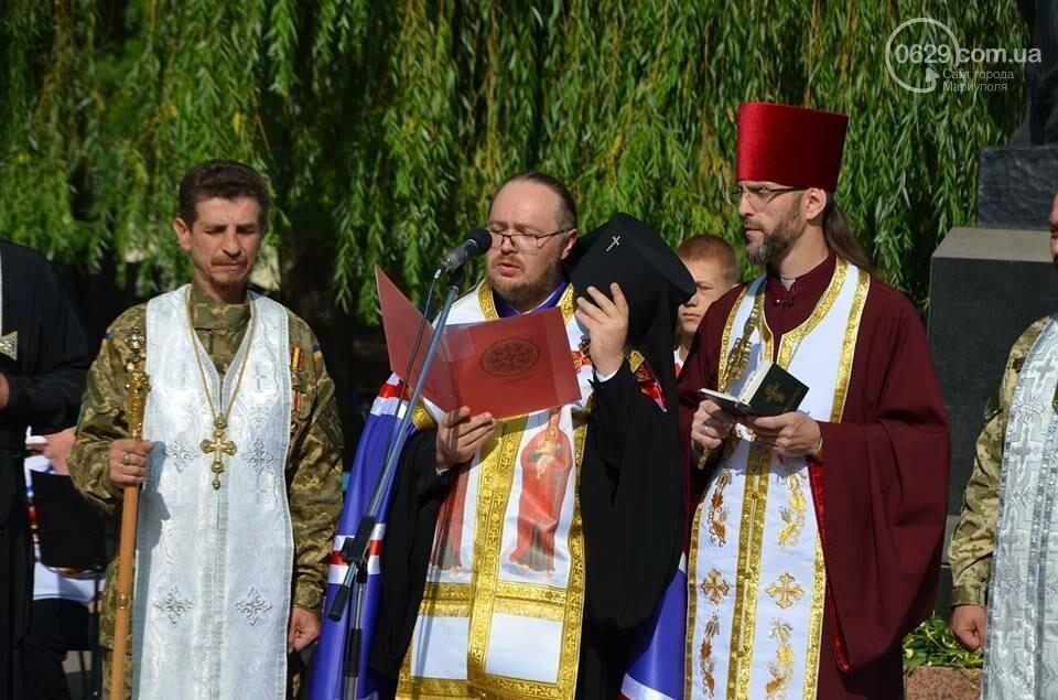 В Мариуполе молились за Украину и высадили флаг ко Дню независимости (ФОТО+ВИДЕО), фото-14