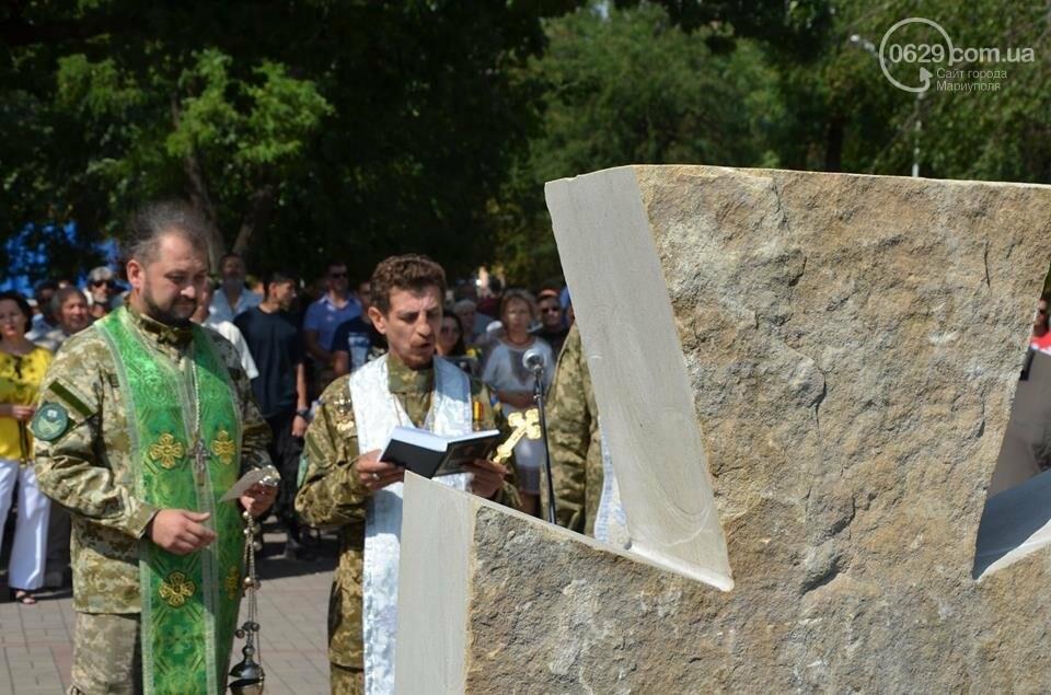 В Мариуполе открыли памятник воинам, погибшим за Украину (ФОТО+ВИДЕО), фото-4