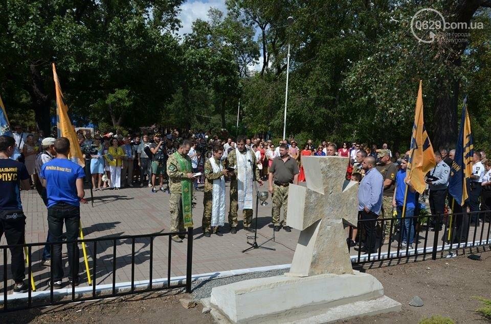 В Мариуполе открыли памятник воинам, погибшим за Украину (ФОТО+ВИДЕО), фото-7