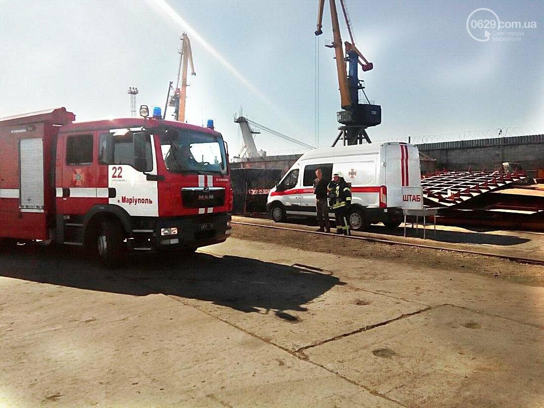 В пожаре на теплоходе в Мариуполе пострадал матрос , фото-2