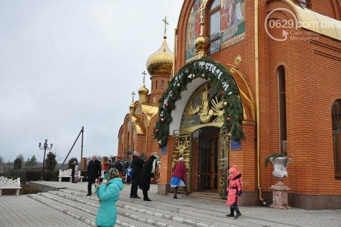 На Рождество в Свято-Покровском храме с. Боевое верующие соревновались в исполнении щедривок (Аэросъемка), фото-2