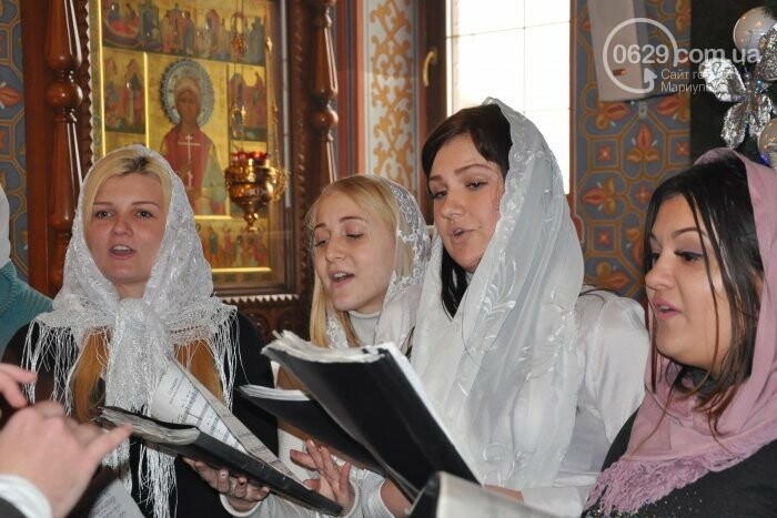 На Рождество в Свято-Покровском храме с. Боевое верующие соревновались в исполнении щедривок (Аэросъемка), фото-20
