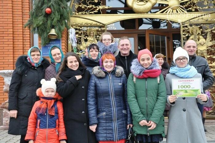 На Рождество в Свято-Покровском храме с. Боевое верующие соревновались в исполнении щедривок (Аэросъемка), фото-36