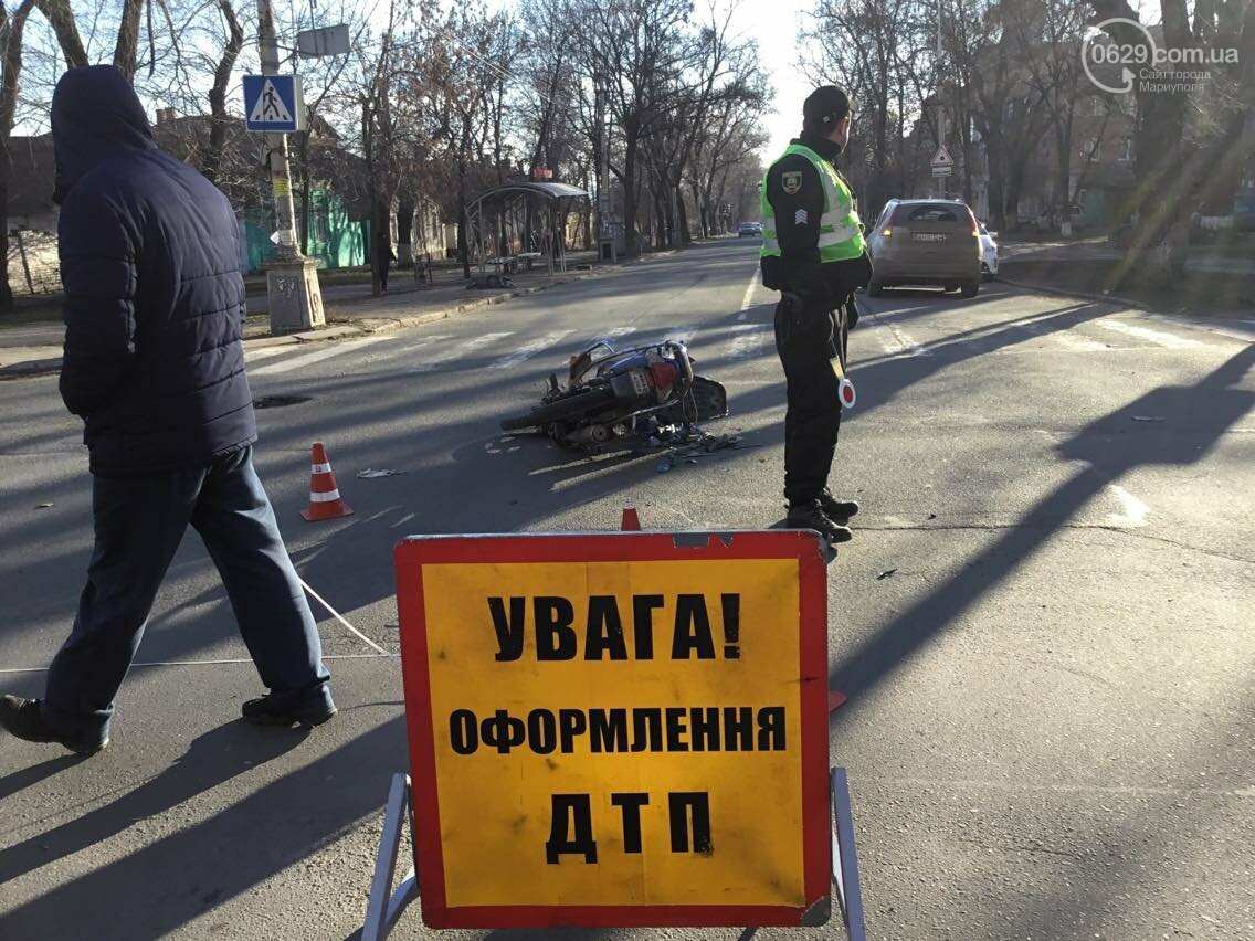 В Мариуполе в аварии пострадал  скутерист (ФОТО) , фото-6