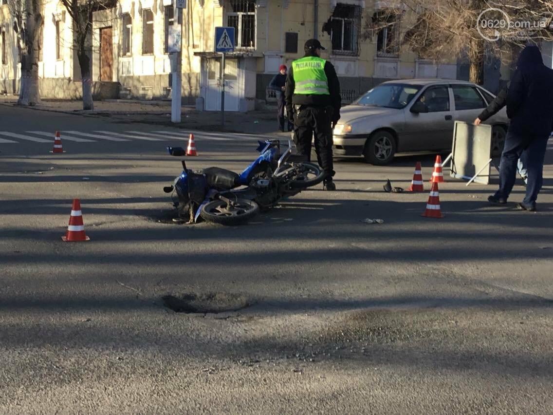В Мариуполе в аварии пострадал  скутерист (ФОТО) , фото-8