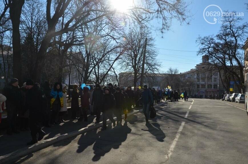 Флешмоб мариупольцев в День соборности  и годовщина трагедии в Донецке. О чем писал 0629.com.ua 22 января, фото-12