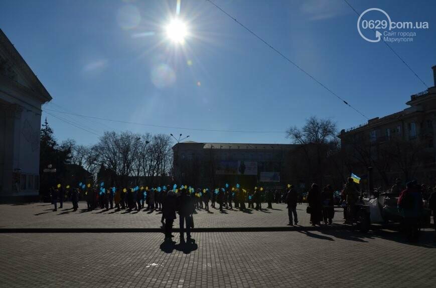 Флешмоб мариупольцев в День соборности  и годовщина трагедии в Донецке. О чем писал 0629.com.ua 22 января, фото-1