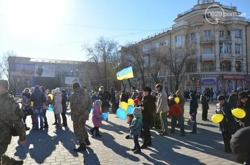 Флешмоб мариупольцев в День соборности  и годовщина трагедии в Донецке. О чем писал 0629.com.ua 22 января, фото-3