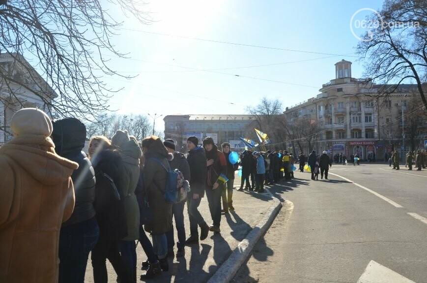Флешмоб мариупольцев в День соборности  и годовщина трагедии в Донецке. О чем писал 0629.com.ua 22 января, фото-11