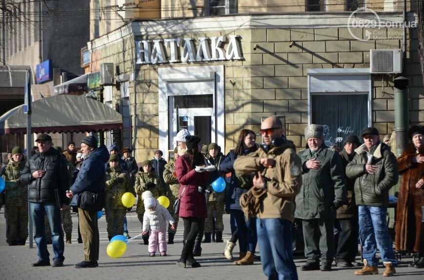 Флешмоб мариупольцев в День соборности  и годовщина трагедии в Донецке. О чем писал 0629.com.ua 22 января, фото-7