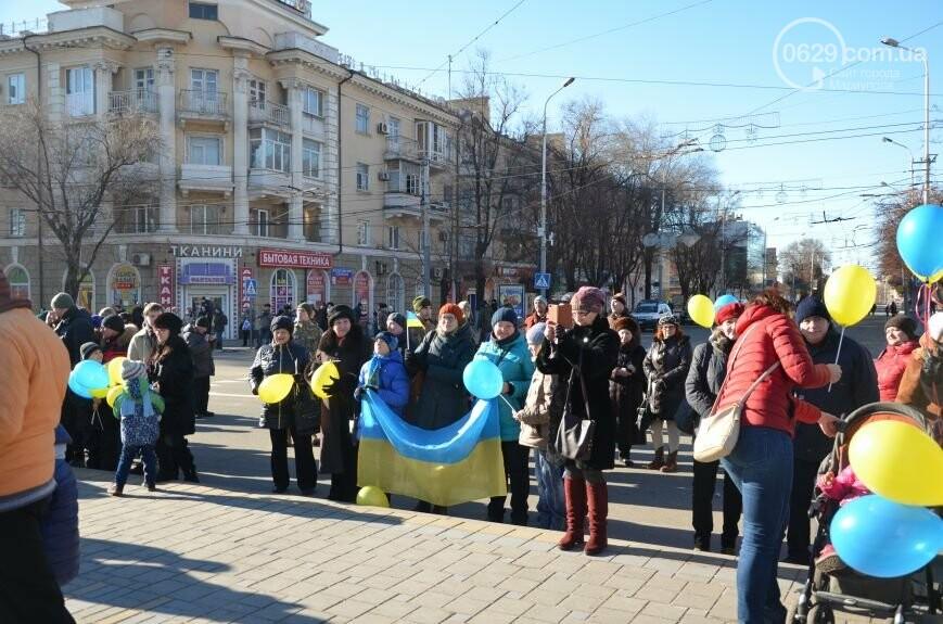 Флешмоб мариупольцев в День соборности  и годовщина трагедии в Донецке. О чем писал 0629.com.ua 22 января, фото-5