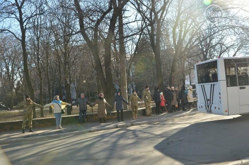 Флешмоб мариупольцев в День соборности  и годовщина трагедии в Донецке. О чем писал 0629.com.ua 22 января, фото-13