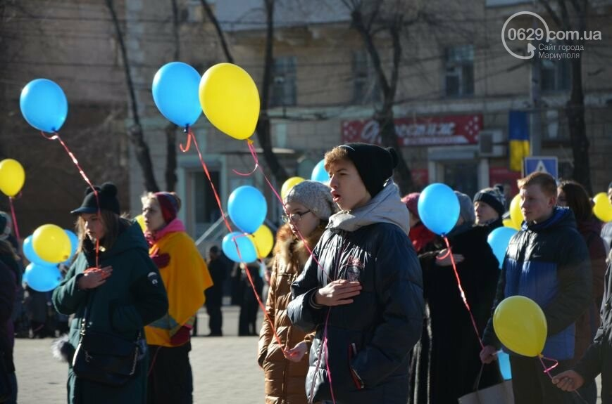 Флешмоб мариупольцев в День соборности  и годовщина трагедии в Донецке. О чем писал 0629.com.ua 22 января, фото-9
