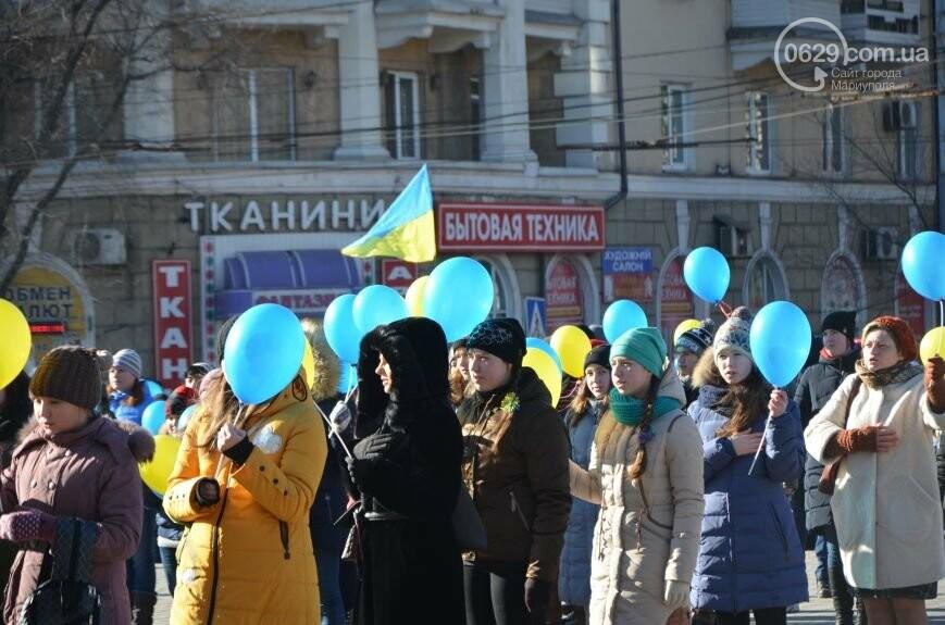 Флешмоб мариупольцев в День соборности  и годовщина трагедии в Донецке. О чем писал 0629.com.ua 22 января, фото-8