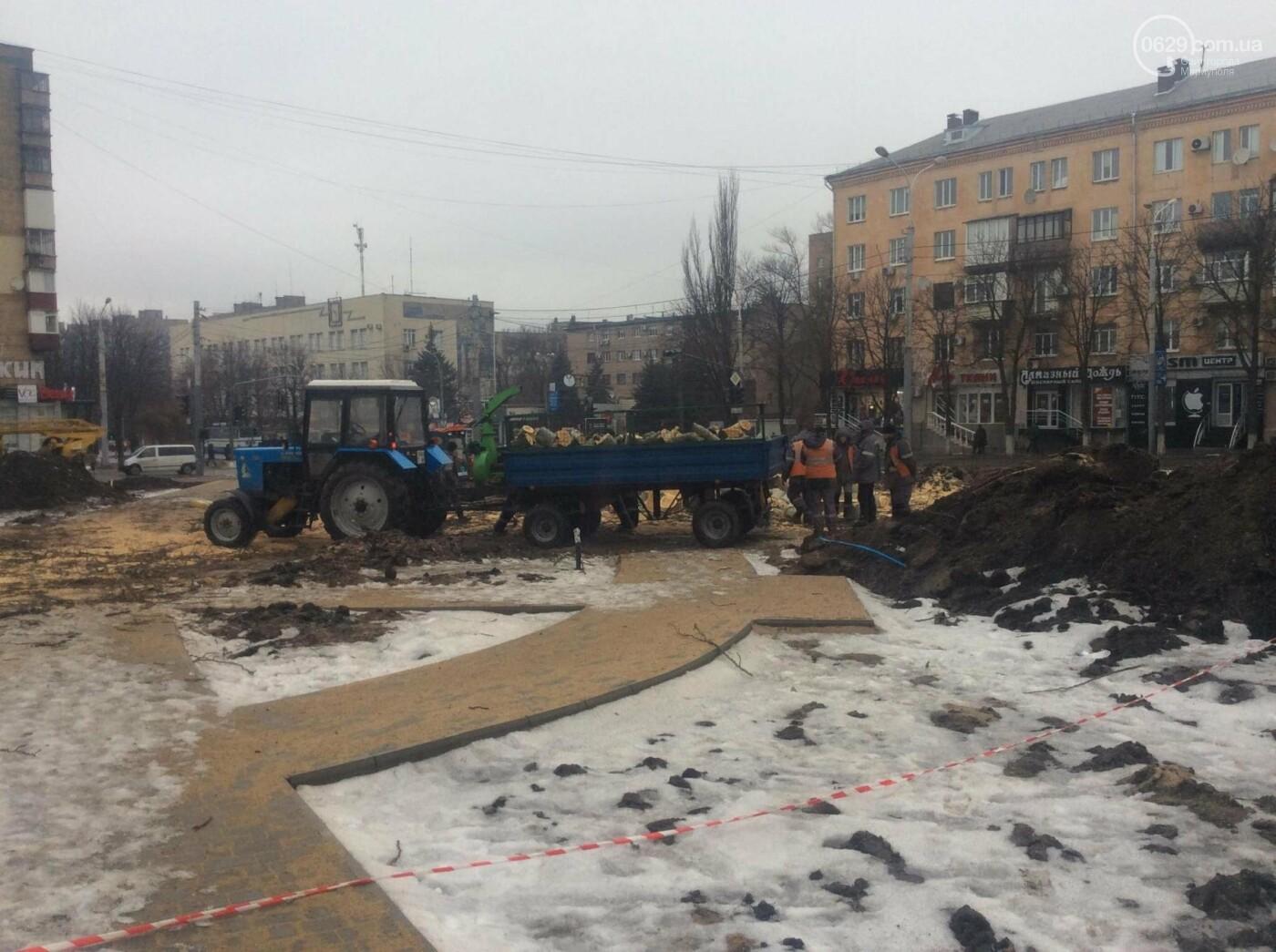 На Греческой площади Мариуполя срубили несколько многолетних тополей (ФОТО, ВИДЕО), фото-4