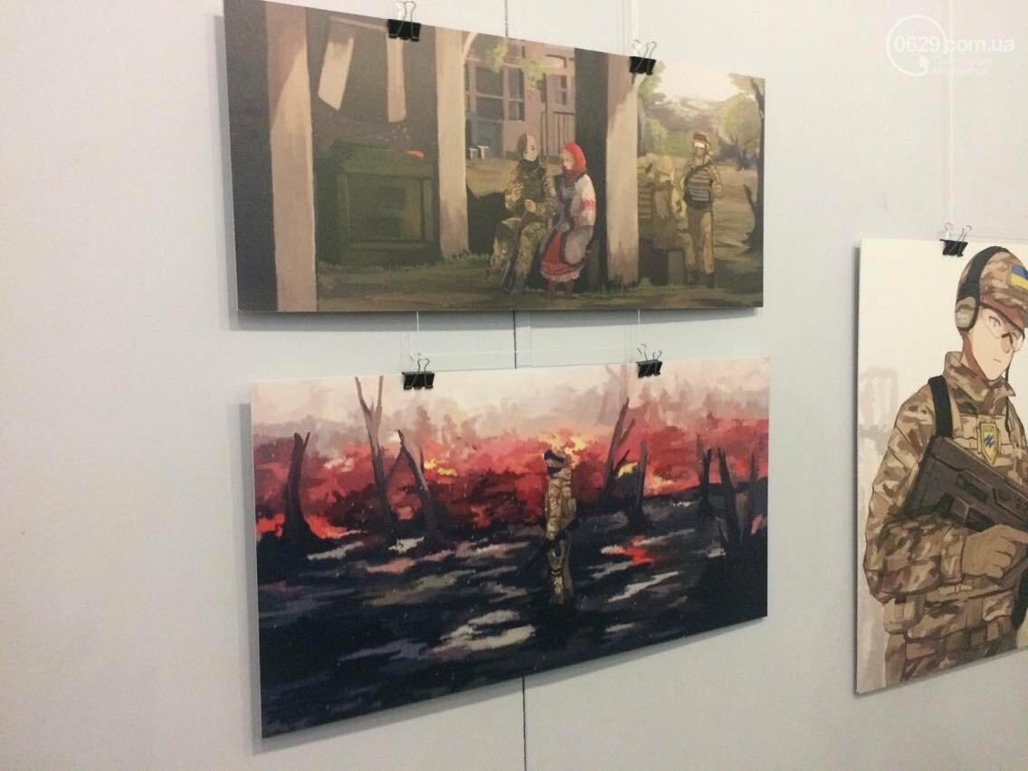 Украинские военные в японском стиле манга. В Мариуполе открылась выставка художницы Нацуми (ФОТО), фото-3
