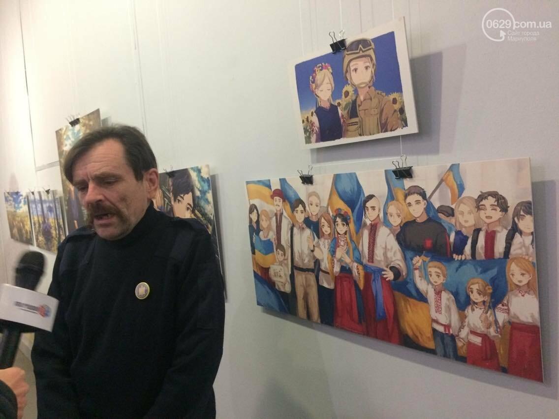 Украинские военные в японском стиле манга. В Мариуполе открылась выставка художницы Нацуми (ФОТО), фото-2