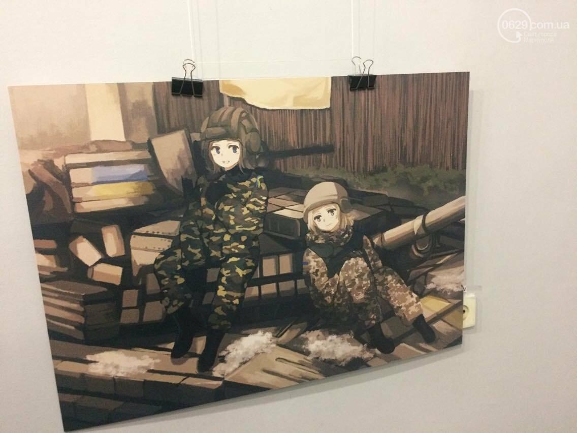 Украинские военные в японском стиле манга. В Мариуполе открылась выставка художницы Нацуми (ФОТО), фото-1