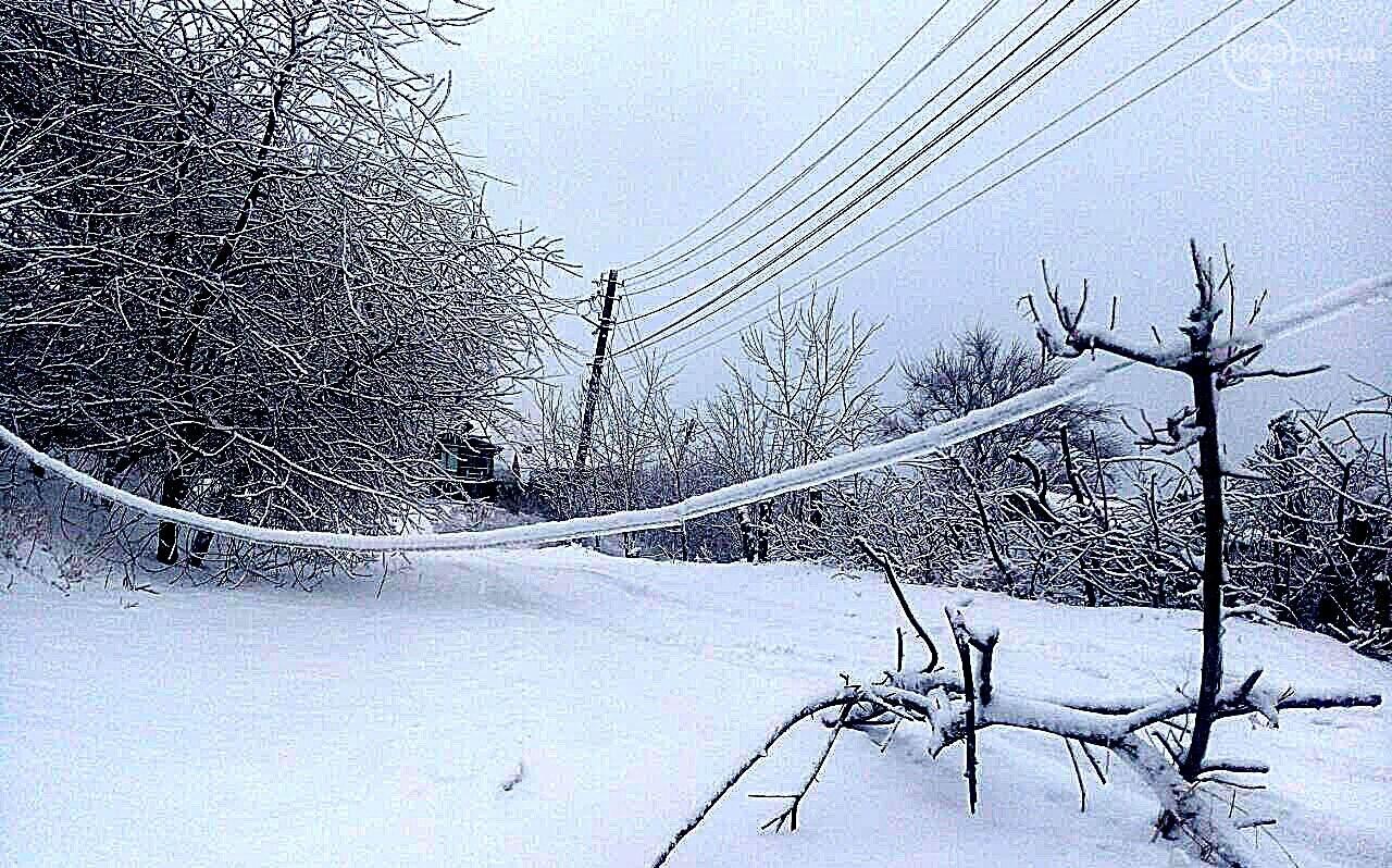 Ледяной плен свалил на дорогу десятки деревьев и обесточил тысячи домов (ФОТО+ВИДЕО), фото-5