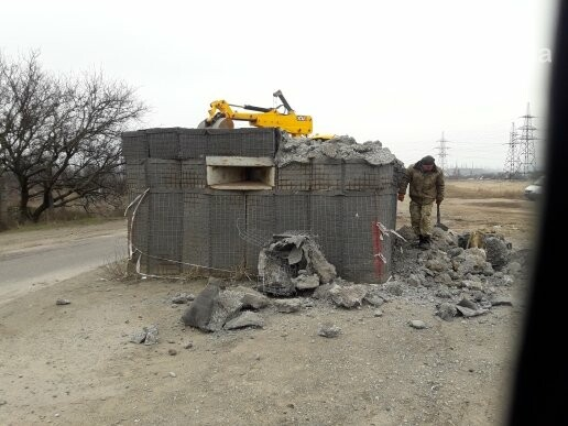 Военные демонтировали блокпост по дороге в Сартану (ФОТО, ВИДЕО), фото-2