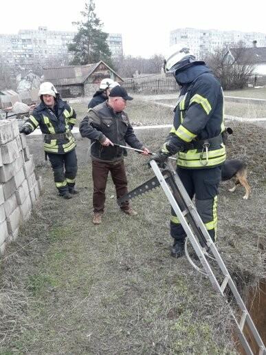 В Мариуполе спасли собаку, провалившуюся в сливную яму (ФОТО), фото-1