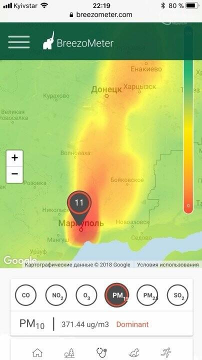 Прибор 0629.com.ua зафиксировал шестикратное превышение пыли в воздухе в одном из районов Мариуполя (ДОПОЛНЕНО), фото-2