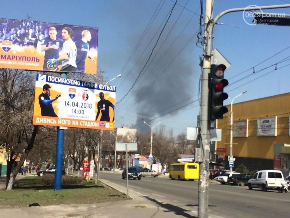 В Мариуполе черный дым  около часа висел над городом (ФОТО), фото-3