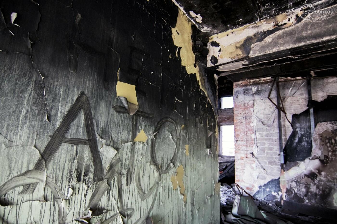 Что осталось от здания мариупольской мэрии, и когда его восстановят (ФОТОРЕПОРТАЖ с руин +ВИДЕО), фото-11