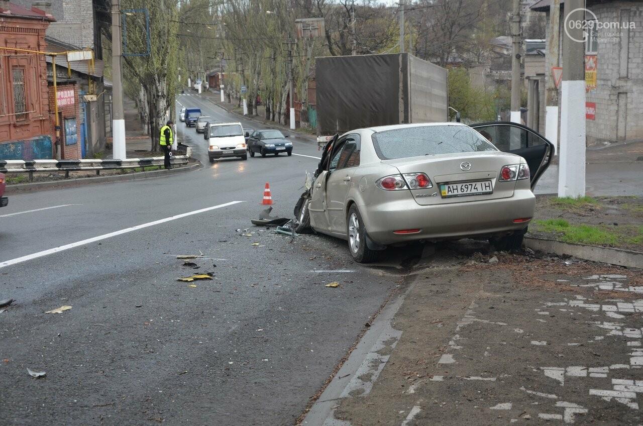 """В Мариуполе маршрутка столкнулась с """"Маздой"""". Пострадала женщина (ФОТО, ВИДЕО), фото-13"""